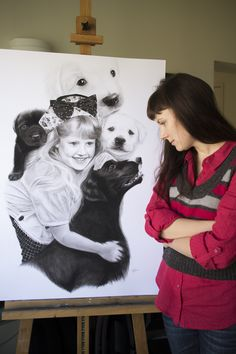 To me, drawing portraits is one of the most pleasant and challenging activities at the same time. All pets are adorable and just like people, having unique facial features. Bored Panda, Past, Portraits, Drawings, Unique, Past Tense, Head Shots, Sketches, Portrait Photography