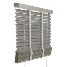 Le Noir & Blanc horizontale houten jaloezie grijs (940) 100 x 180 cm - 50 mm, alles voor je klus om je huis & tuin te verfraaien vind je bij KARWEI