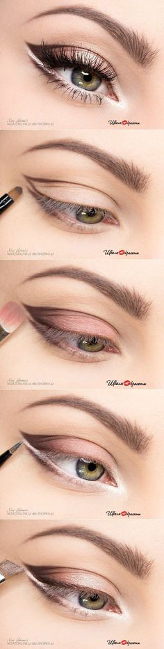 Natural Makeup Maquillage yeux - You only need to know some tricks to achieve a perfect image in a short time. Hazel Eye Makeup, Natural Eye Makeup, Blue Makeup, Hazel Eyes, Makeup Hacks, Makeup Tips, Beauty Makeup, Makeup Ideas, Makeup Basics