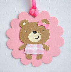 Teddy Bears and Bling party favor tags gift by BlueDolphinCreative, $10.00