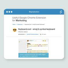 Useful Google chrome extension for marketing . Keyboard.cool . . #keyboard #layout #type #emoji #marketing #socialmedia #postings #googlechrome #google #extensions #apps #plugin #keyboard Emoji Symbols, Google Chrome, Keyboard, Extensions, Communication, Apps, Layout, Social Media, Marketing