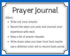 Tips for keeping a prayer journal - free printable prayer card