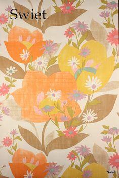 Behang | Behang per meter bloemen | Swiet