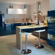 Cuisine bleu Gossip COOKE & LEWIS - CASTORAMA