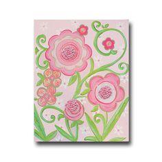 Wall Art By Theme Popular Artwork for Girls Glitter Flower Ii Hand Painted Canvas at PoshTots Pink Canvas Art, Flower Canvas Art, Hand Painted Canvas, Acrylic Painting Canvas, Flower Art, Canvas Paintings, Glitter Flowers, Glitter Art, Pink Flowers