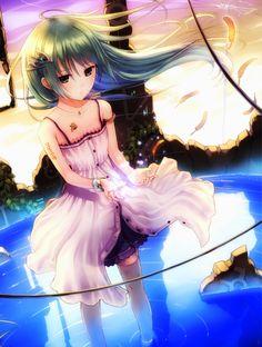 sad anime girl art kazuharu kina