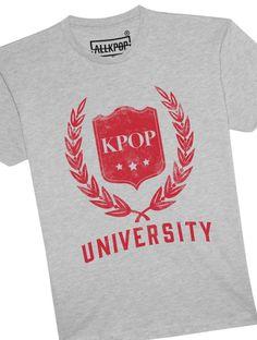 KPOP University Tee | https://shop.allkpop.com/products/kpop-university-tee?variant=22249231745
