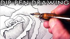 My first attempt at drawing with Dip Pens! Here's another tutorial video. Pencil Painting, Pen Sketch, Dip Pen, India Ink, Ink Pen Drawings, Pen Art, Art Store, Art Techniques, Pens
