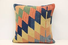 Bohemian Kilim pillow cover 18x18 inches by stripepattern on Etsy