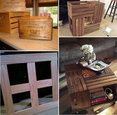 Leuk idee met houten kratten