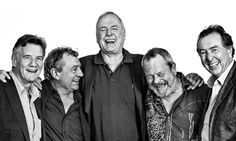The five surviving Pythons: Michael Palin, Terry Jones, John Cleese, Terry Gilliam and Eric Idle. LEGENDS.