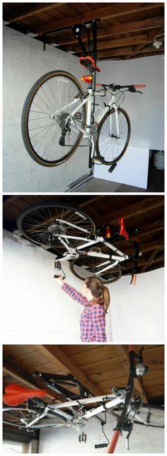 Hide-A-Ride Ceiling Bike Rack.