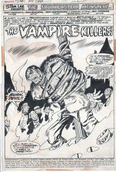 Frankenstein #9, page1 Comic Art