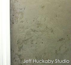 Layered plaster in 3 shades of sage green- Jeff Huckaby Studio (Phoenix, AZ USA)