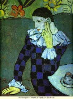 Pablo Picasso: Leaning Harlequin.