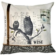 Be Wise Pillow with Appliques