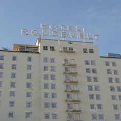 Hotel Roosevelt, Hollywood CA. Said to be haunted by numerous famous people, to include Jim Belushi.