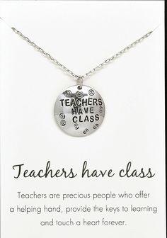 Ynna Teachers Have Class, Appreciation Gift Necklace & Pendant