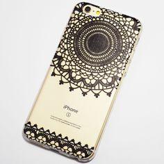 Black Doily Henna Pattern iPhone 6 / 6S Soft Case