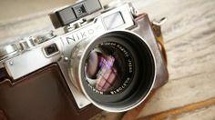 vintage nikon slr camera nippon japan lens wide hd wallpaper