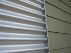 corrugated steel and siding together