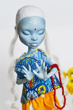 Custom Monster High Doll OOAK Abbey Bominable