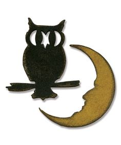 Another great find on #zulily! Movers & Shapers Owl & Crescent Moon Die Set #zulilyfinds