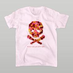 フラワードクロ(レッド) Tシャツ