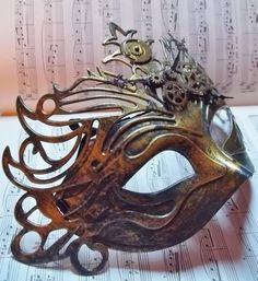 Steampunk Mask by LaboratorioDiPuck on Etsy, €30.00