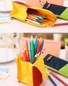 Pencil Case - Double Function Pencil Pouch and Pen Stand | CoolPencilCase.com