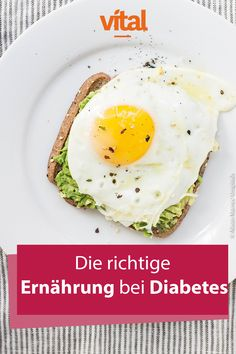 In most cases, diabetes arises as a result of an unhealthy lifestyle. But that can be changed. Diabetes Mellitus, Low Carb Keto, Avocado Toast, Detox, Health Care, Good Food, Fitness, Breakfast, Diabetic Breakfast