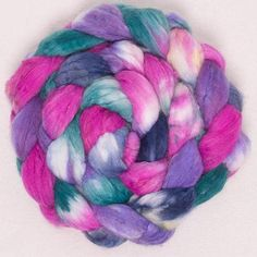 Hand dyed roving cashmere spinning fiber Faux Cashmere