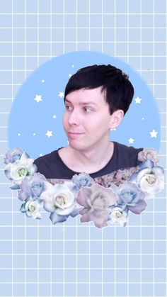 Cute floral Phil wallpaper!