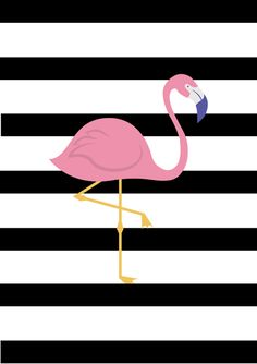 Ponad 40 grafik do pobrania do pokoju malucha Flamingo Wallpaper, Flamingo Art, Flamingo Pattern, Small Canvas Paintings, Diy Canvas Art, Navy And Copper, Wallpaper Stickers, Robot Wallpaper, Framed Quotes