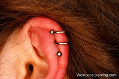 Double Spiral done with an Implant Steel Double Twister Barbell from Anatometal.