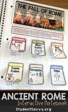 Ancient Rome Interactive Notebook Unit. My students love the units from this Ancient Civilization series!