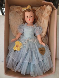 """Vintage Effanbee Little Lady Anne Shirley Doll - 22"""" with Box - Beautiful! #DollswithClothingAccessories"""
