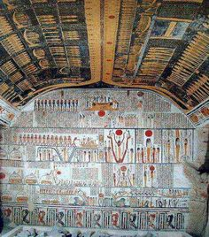 burial chamber of Ramesses (scenes from the Book of the Earth; astronomical ceiling with Nut and scenes from the Books of the Heavens)
