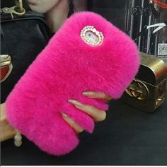 Fluffy IPHONE 6 case Brand New furry case !!! Hot pink. So cute and fuzzy  Accessories Phone Cases
