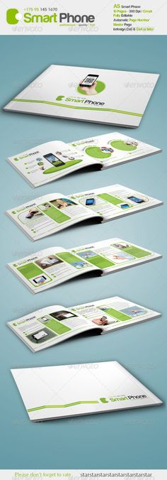 Smart Phone A5  - Brochures Print Templates | Download http://graphicriver.net/item/smart-phone-a5-/3005452?ref=sinzo