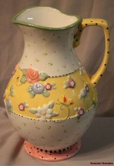 Mary Engelbreit I have several pieces of this pattern, have never seen this pitcher