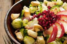 The 28-Day Shrink Your Stomach Challenge Shredded Brussels Sprouts and Apple Salad: Flatten your stomach by making this salad recipe for lunch.