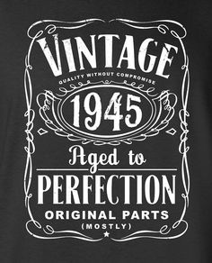 70th Birthday Gift For Men and Women Vintage by SHIRTSnGIGGLES
