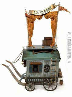 Miniatures by June Clinkscales Dollhouse Furniture Miniature Rooms, Miniature Crafts, Miniature Furniture, Dollhouse Furniture, Hand Painted Fabric, Dungeon Maps, Louis Xvi, Stop Motion, Amusement Park