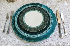 Turquoise table setting