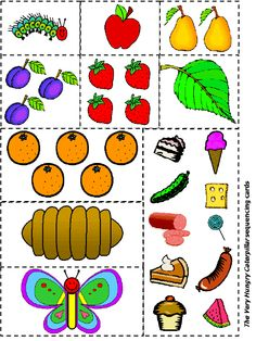 """sequencing - """" The Very Hungry Caterpillar"""" integrated lesson!"""