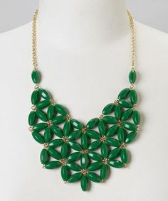 Green Floral Necklace.