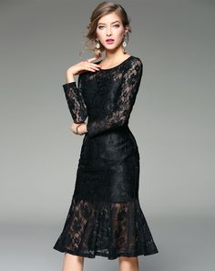 Shop Black Lace Elegant Party Mermaid Dress. VIPme.com offers quality Black, ZERACO Party Dresses at affordable prices.