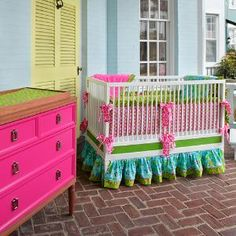 Love the hot pink dresser.  Only the hot pink dresser :). Would be fun in a little girls room