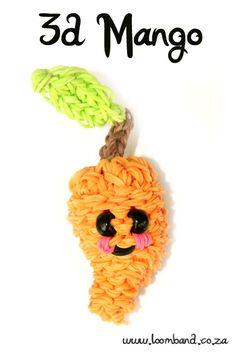 3D Happy Mango loom band tutorial http://loomband.co.za/3d-happy-mango-loom-band-tutorial/
